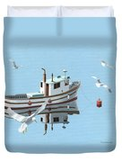 A Contemplation Of Seagulls Duvet Cover by Gary Giacomelli