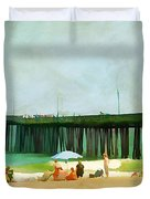 A Day At The Beach Duvet Cover by Darren Fisher
