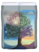 A Day In The Tree Of Life Duvet Cover by Stanza Widen