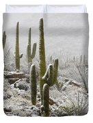 A Desert Blizzard Duvet Cover by Saija  Lehtonen