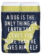 A Dog... Duvet Cover by Debbie DeWitt