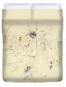 A Dream In Absinthe, 1890 Duvet Cover by Charles Edward Conder
