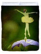A Fairy In The Garden Duvet Cover by Rebecca Sherman