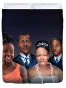 A Family Portrait Duvet Cover by Reggie Duffie