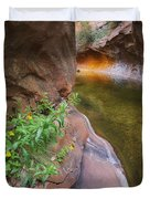 A Frogs Rest Duvet Cover by Peter Coskun