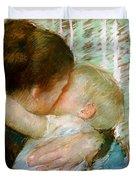 A Goodnight Hug  Duvet Cover by Mary Stevenson Cassatt