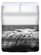 A Gray November Day at the Beach Duvet Cover by Susanne Van Hulst
