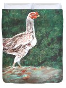 A Hen Duvet Cover by Usha Shantharam