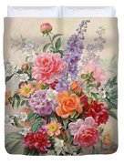 A High Summer Bouquet Duvet Cover by Albert Williams