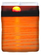 A Last Sunset Duvet Cover by Karol Livote