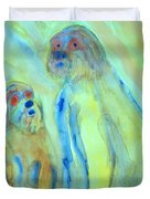 a little troll family  Duvet Cover by Hilde Widerberg