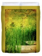 A Love Letter From Summer Duvet Cover by Lois Bryan