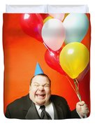 A Man With Balloons Duvet Cover by Darren Greenwood