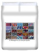 A Menagerie Of Colorful Quilts  Duvet Cover by Barbara Griffin