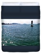 A Moment Of Enjoy Sup #1 Duvet Cover by Chikako Hashimoto Lichnowsky