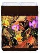 A New Season Blooms Duvet Cover by Karol  Livote