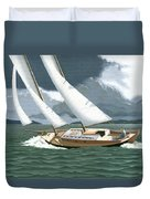 A Passing Squall Duvet Cover by Gary Giacomelli