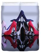A Pyramid Of Shoes Duvet Cover by Terri Waters