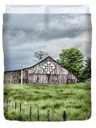 A Quilted Barn Duvet Cover by Heather Applegate