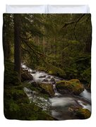 A River Passes Through Duvet Cover by Mike Reid