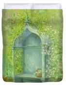 A Seat in the Garden Duvet Cover by Garry Walton