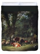 A Shady Corner Duvet Cover by William Snr. Shayer