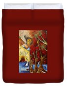 A Slice Of Paradise By Madart Duvet Cover by Megan Duncanson