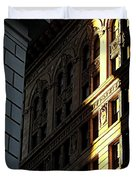 A Sliver Of Light In Manhattan Duvet Cover by James Aiken