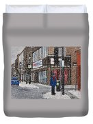 A Snowy Day On Wellington Duvet Cover by Reb Frost
