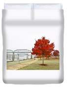 A Soft Autumn Day Duvet Cover by Tom and Pat Cory