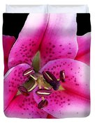 A Star Is Born - Pink Stargazer Lily by Sharon Cummings Duvet Cover by Sharon Cummings