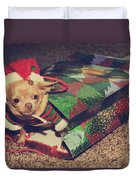 A Sweet Christmas Surprise Duvet Cover by Laurie Search