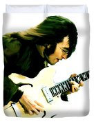 A Time It Was  John Lennon Duvet Cover by Iconic Images Art Gallery David Pucciarelli