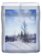 A Tree In The Cold Duvet Cover by Priska Wettstein