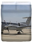 A U.s. Navy Uc-12w King Air Utility Duvet Cover by Timm Ziegenthaler