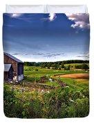 A Verdant Land II Duvet Cover by Steve Harrington