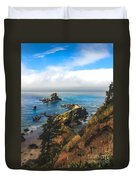 A View From Ecola State Park Duvet Cover by Robert Bales