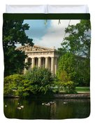 A View Of The Parthenon 17 Duvet Cover by Douglas Barnett