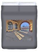 A View To Nyc Duvet Cover by Susan Candelario