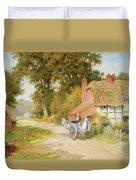 A Warwickshire Lane Duvet Cover by Arthur Claude Strachan
