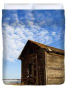 A Wooden Shed Stands Alone Duvet Cover by Steve Nagy