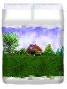 Abandond Farm House Digital Paint Duvet Cover by Debbie Portwood