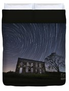 Abandoned History Star Trails Duvet Cover by Michael Ver Sprill