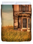 Abandoned House In Grass Duvet Cover by Jill Battaglia