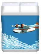 Above It All  The Grumman Goose Duvet Cover by Gary Giacomelli