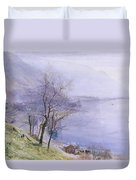 Above Montreux Duvet Cover by John William Inchbold