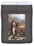 Abraham And Isaac Duvet Cover by Harold Copping