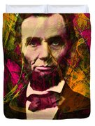 Abraham Lincoln 2014020502 Duvet Cover by Wingsdomain Art and Photography