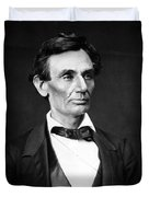 Abraham Lincoln Portrait Duvet Cover by Anonymous