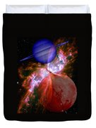 Abstract 168 Duvet Cover by J D Owen